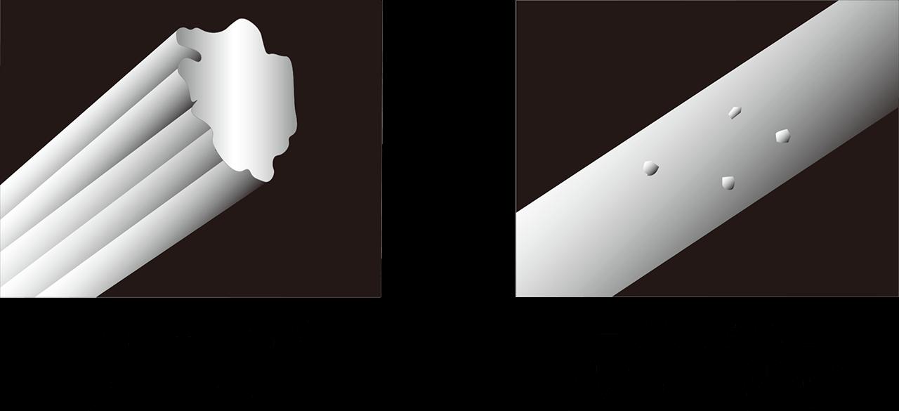 メディカーボン素材 炭100% 一般的な炭繊維 炭10%程度